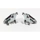 Chromed Left 4-Piston Front Caliper - 0053-2915-CH