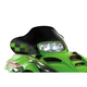 11 1/2 in. Low Black/Green Windshield - 12320