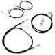 Black Vinyl Handlebar Cable and Brake Line Kit for Use w/Mini Ape Hangers - LA-8005KT-08B