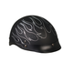Matte Black Silver Flames Helmet