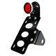Black 2 in. Bobber Taillight/License Plate Bracket Kit w/Red Lens - 107-0004
