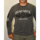 Washed Charcoal Celtic Skull Long Sleeve T-Shirt