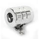 Grooved Chrome Hose End with Clamps - DS-096609