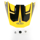 Yellow/Black/Red MC-3 FG-X Hammer Helmet Visor - 0967-6010-03