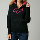 Womens Black Interface Sherpa Zip Hoody