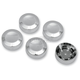 Chrome Rear Pulley Bolt Covers - 1201-0597