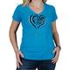 Womens Blue Heart T-Shirt
