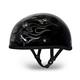 Cross Bones Skull Cap Half Helmet
