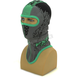 Black/Green Shredder Balaclava - 2712