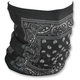 Black Paisley Fleece-Lined Motley Tube - TF101