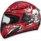 FX-100 Red Skulls Helmet