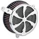 Chrome Swept Air Cleaner Kit - 606-0102-01