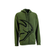 Military Green Split Zip-Up Hoody
