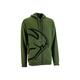 Military Green Split Zip-Up Hoody