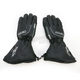 Black Leather Gauntlet Gloves