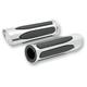 Chrome Deep Cut Soft-Touch Grips - 07-052