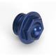 Aluminum Blue Oil Filler Plug - 24-002