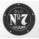 Black Powder-Coated Old No. 7 Brand 5-Hole Derby Cover - JDA02P01DC