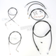 Black Vinyl Handlebar Cable and Brake Line Kit for Use w/18 in. - 20 in. Ape Hangers w/ABS - LA-8150KT-19B
