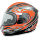 Safety Orange Milti FX-90S Snow Helmet