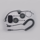 Open-Face Style Stereo Helmet Headset w/5-Pin Single-Section Cord - HS-8154B-OF