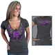 Womens Charcoal Official 2012 Sturgis Flying Heart T-Shirt