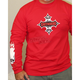 Red Flame Cross Long Sleeve T-Shirt