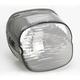 Smoke Laydown Taillight Lens w/Top Tag Window - 2010-0778