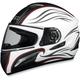 FX-100 Pearl White Waves Helmet