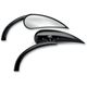 Left Black Rad II Teardrop Mirror - 13-400