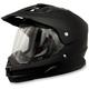 Flat Black FX-39DS Dual Sport Helmet