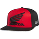Red/Black Premium Honda Flex-Fit Hat