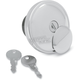 Chrome Vented Screw-In Locking Gas Cap - 0703-0230