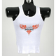 Womens Flame Beater White Tank