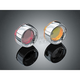 Deep Dish Bezels for Deuce Style Turn Signal w/Red Lens - 2109