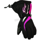 Womens Black/Fushia Tempt Gloves