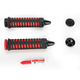 Black/Red Braided Grips - 6334