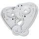 White Pivot Kit for Airmada/Airframe Pro Helmets - 0133-0670