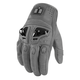 Grey Justice Leather Gloves