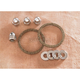 Graphite Wire Exhaust Port Gasket Kit w/Chrome Acorn Nuts and Washers - EV-1