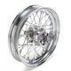 Rear Chrome 16x3 40-Spoke Laced Wheel Assembly - 0204-0423