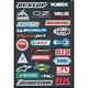 Sport Bike Sponsor Sticker Sheet - 15-68800