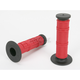 Red Half Waffle MX Grips - D606RD