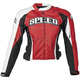 Womens Red Throttle Body Textile Jacket