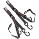 Black/Red 1 in. Integrated Soft Hook Tie Downs - 10-0550