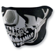 Chrome Skull Half Face Mask - WNFM023H