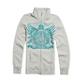 Womens White Fox Force 1 Zip-Up Sweatshirt