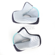 Gray/Cyan Cheek Pads for Thor Verge Helmets