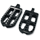 Long Adjustable Serrated Billet Footpegs - 08-56-1