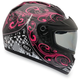 Black/Pink Arrow Zipped Snow Helmet